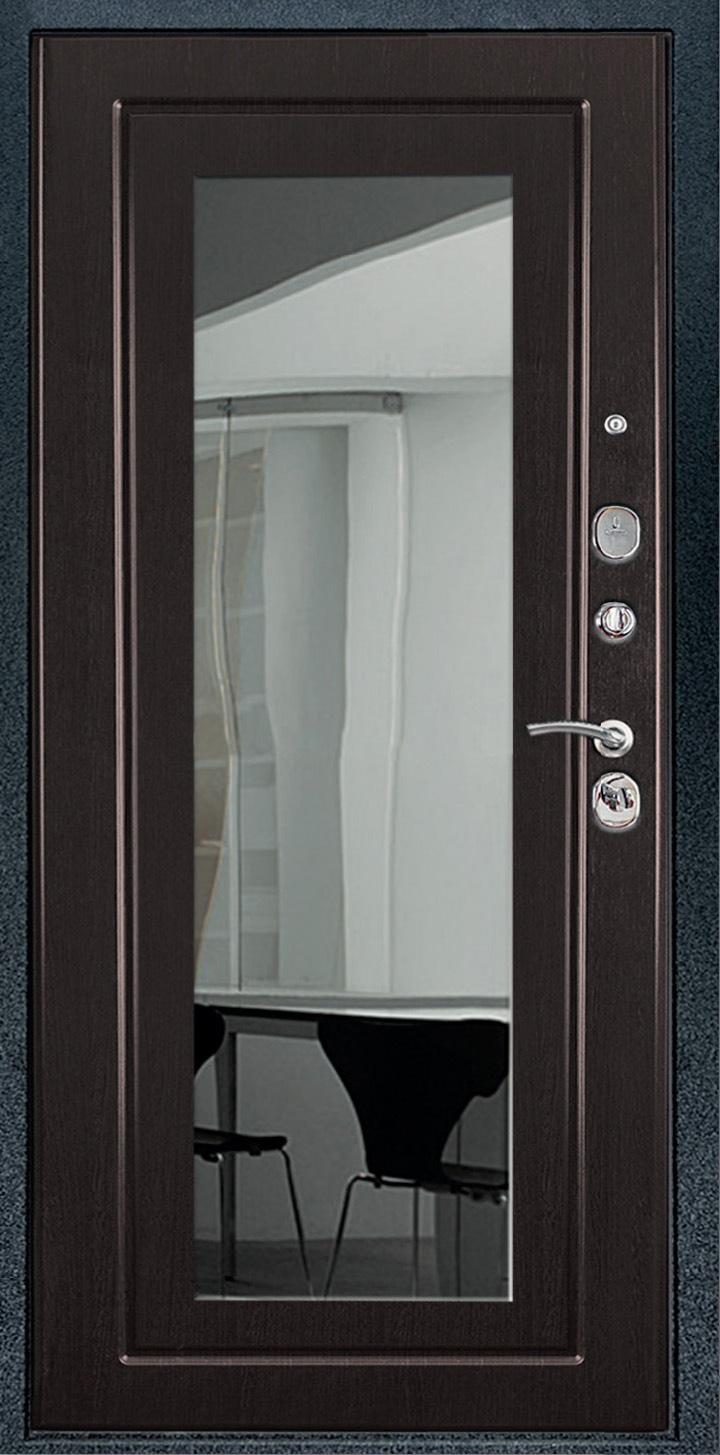 металлическая дверь с зеркальной вставкой купить