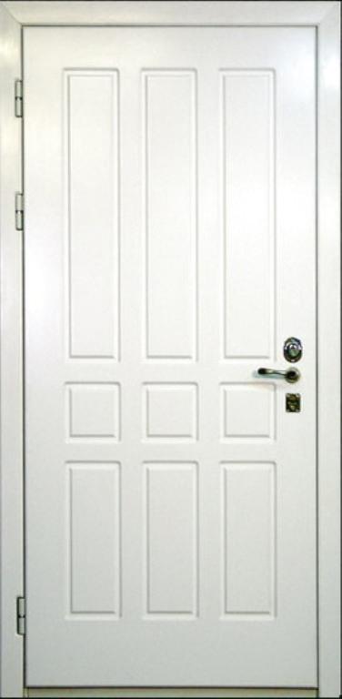 двери входные металлические двери с внутренней белой мдф