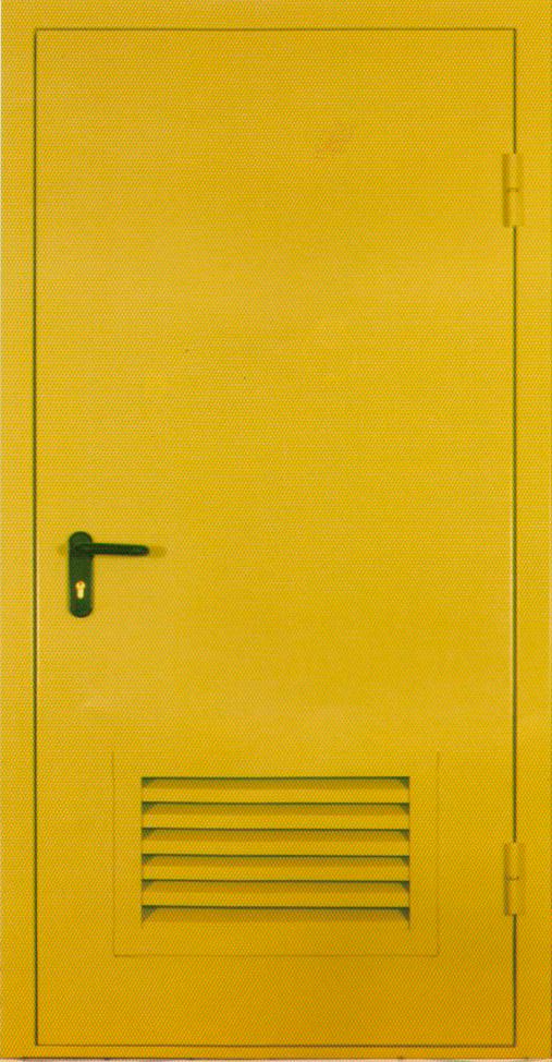 металлическая дверь с решеткой для котельной