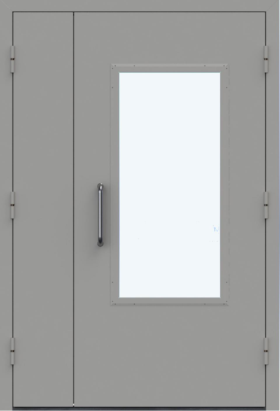 металлические технические двери с армированным стеклом