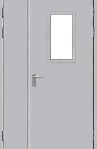 дверь внутренняя металлическая противопожарная остекленная двупольная цена