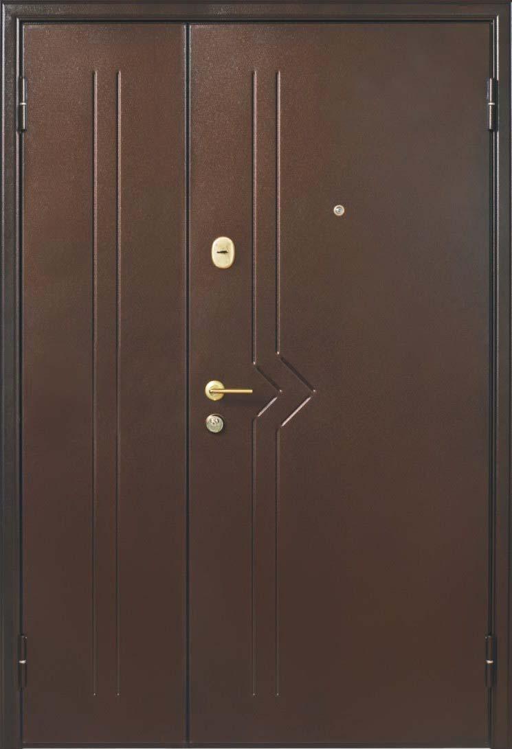 металлические двустворчатые двери в тамбур