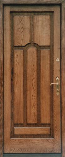 металлические двери с облицовкой шпоном натурального дерева