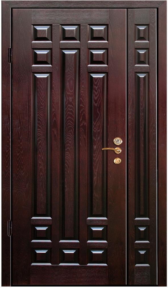 двери входные двухстворчатые массив