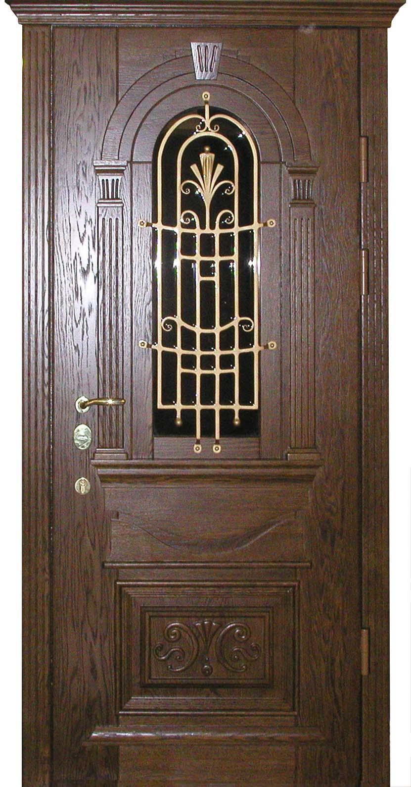 элитные железные двери с окна
